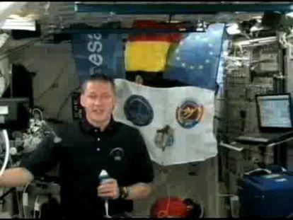 El astronauta belga Frank De Winne anima a los ciudadanos europeos a votar en las elecciones desde la Estación Espacial Europea