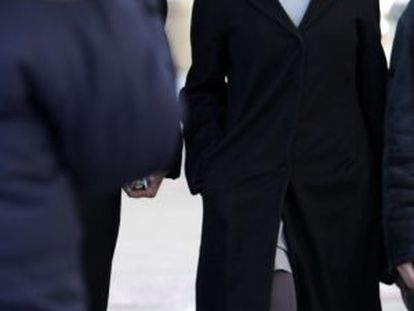 Kerry Kennedy, a su llegada al juicio.