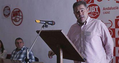 El nuevo secretario provincial de UGT en Cádiz, Francisco Andreu.