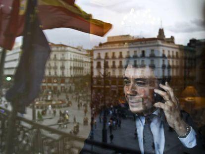 Ignacio González, en su despacho de la puerta del Sol en 2013, cuando era presidente.