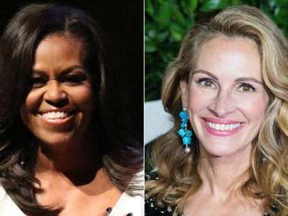 Michelle Obama y Julia Roberts.
