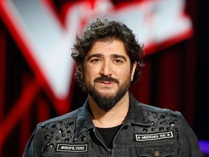 """Singer Antonio Orozco during the presentation of the tv show """" La Voz """" in Madrid on Wednesday 29 January 2020."""