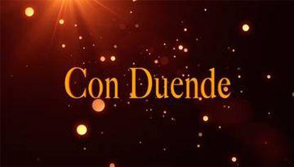 Logotipo de 'Con duende', uno de los programas nocturnos suspendidos por RTVE.