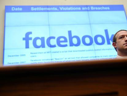 Mark Zuckerberg, fundador y director ejecutivo de Facebook, el 23 de octubre durante una comparecencia ante la Cámara de Representantes.