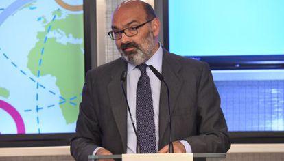El presidente de Indra, Fernando Abril-Martorell.