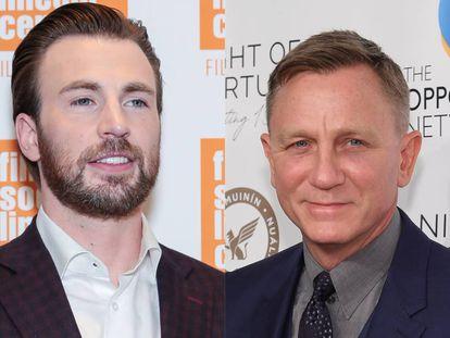 Los intérpretes Chris Evans y Daniel Craig.
