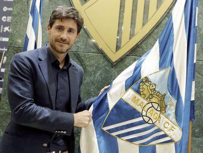 Víctor Sánchez del Amo, después de renovar como entrenador del Málaga CF