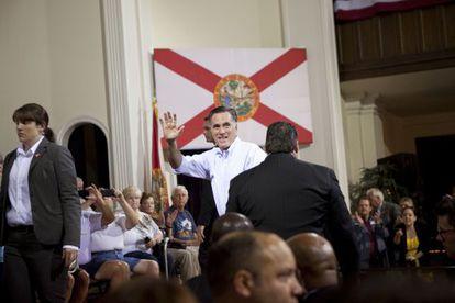 Romney, en un mitin en Florida, el 16 de mayo