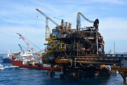 Una plataforma petrolera de Pemex.