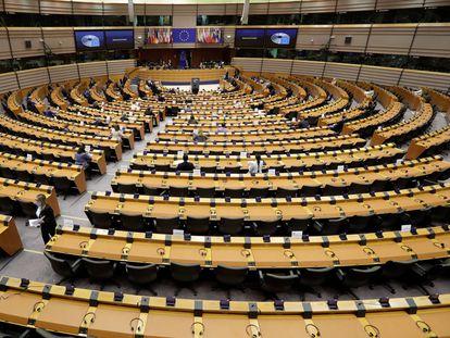 Vista del Parlamento Europeo en Bruselas.