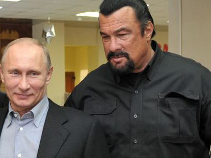Vladimir Putin y Stven Seagal.