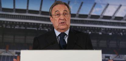 Florentinio Pérez, presidente del Real Madrid.