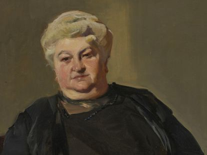 Retrato de Emilia Pardo Bazán pintado por Joaquín Sorolla en 1913.