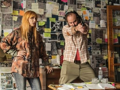 Sandra Andreis y Schiaffino Musarra, en la serie 'Una conspiración sueca'.