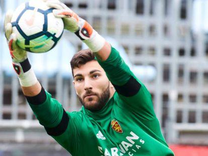 Álvaro Ratón, portero Del Real Zaragoza