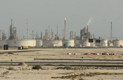 Una refinería de petróleo en Qatar.