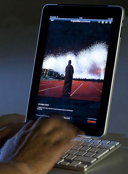 El iPad con teclado físico incorporado.