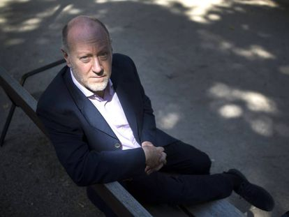 Peter Cherry en un parque de Madrid