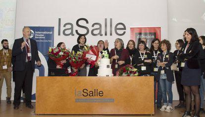 Participantes en el encuentro de español como lengua extranjera ELE, ayer en Barcelona. IRENE BEL