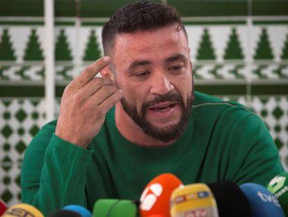 David Serrano, dueño de la finca de Totalán donde murió Julen, este martes en Málaga.