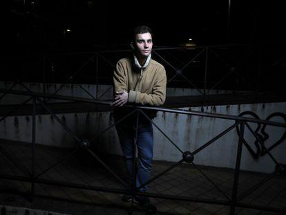 Enrique García, estudiante de Matemáticas y Física, este viernes en Madrid.