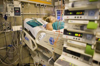 Unidad de Cuidados Intensivos del hospital Vall d'Hebron de Barcelona.