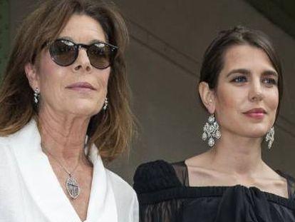 Carolina Mónaco con su hija Carlota Casiraghi, en Mónaco el año pasado.
