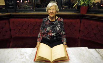 Leonor Machado, el jueves tras el homenaje que recibió en Madrid.