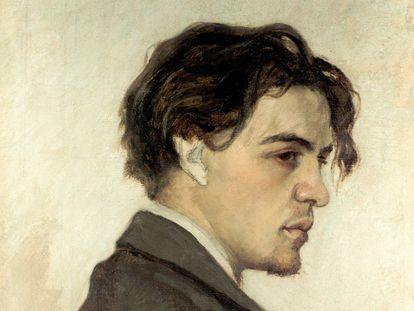 Retrato de Antón Chéjov por su hermano Nikolai, en 1889, cuando tenía 29 años.