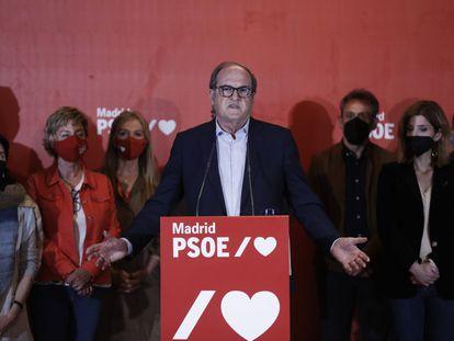 Ángel Gabilondo, en una comparecencia sin preguntas tras el peor resultado del PSOE en unas autonómicas madrileñas.