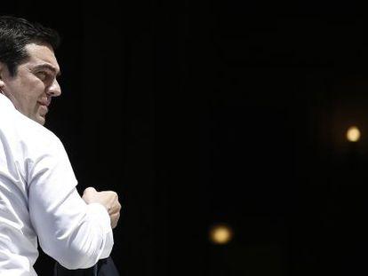 Tsipras, el jueves en Atenas, tras regresar de Bruselas.