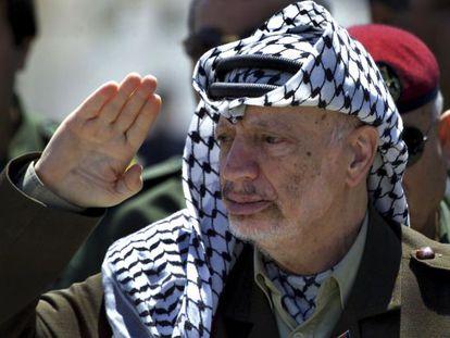 El fallecido Yaser Arafat, en una imagen de 2001.