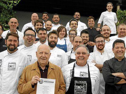 Homenaje de la Asociación Fra Roger a Josep Borràs en Sa Pedrera des Pujol.