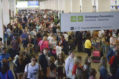 Aeropuerto de Brasilia este lunes.