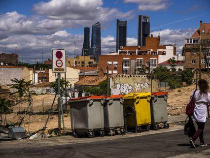 Calle Pando, en el barrio de La Ventilla, en Madrid.