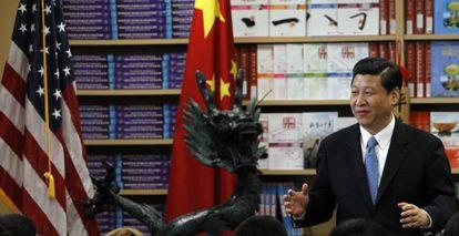El vicepresidente chino, Xi Jinping, pronuncia una conferencia ante estudiantes de chino en California durante su viaje a Estados Unidos en febrero pasado.