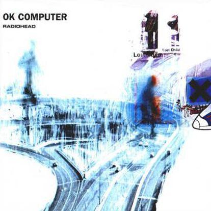 Portada de 'Ok computer', un collage lechoso creado por Stanley Donwood.