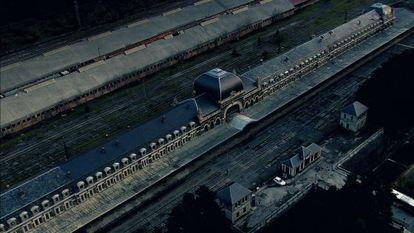 Imagen de la estación internacional de ferrocarril de Canfranc.