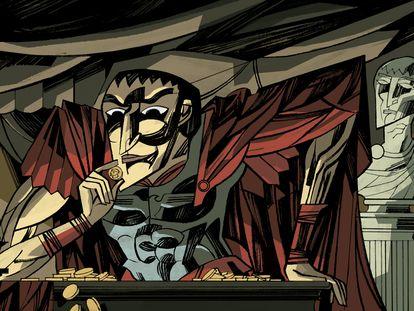 Ilustración de Craso realizada por Javier Olivares.