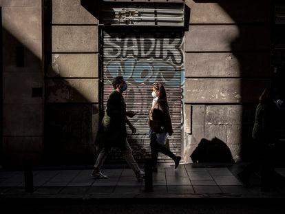 Locales comerciales cerrados en Madrid.