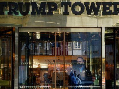 La entrada de la Torre Trump de Manhattan, el 12 de enero en Nueva York.