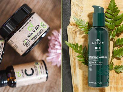 Cremas y limpiadores faciales, lociones corporales o champús forman parte del amplio catálogo de productos de belleza orgánica entre los que elegir.