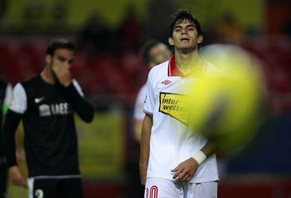 Perotti, durante un partido de esta temporada.