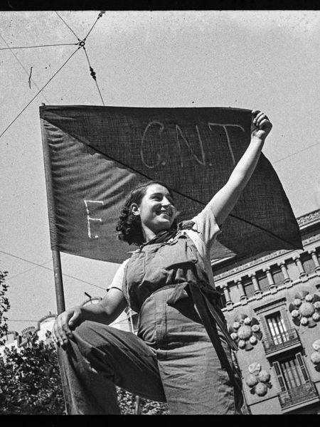 'Militiawoman in a barricade on Hospital Street, July 1936', by Antoni Campañà.