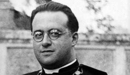 Foto del sacerdote, físico y matemático belga, Georges Lemaître.