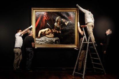 'Judit y Holofernes', el lienzo atribuido a Caravaggio que se descubrió en 2014 en un desván de Toulouse.