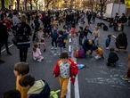 DVD 1044 (12-03-21)Protesta escolar pidiendo entornos seguros alrededor de los colegios, Madrid. En la foto el colegio Rufino BlancoFoto: Olmo Calvo