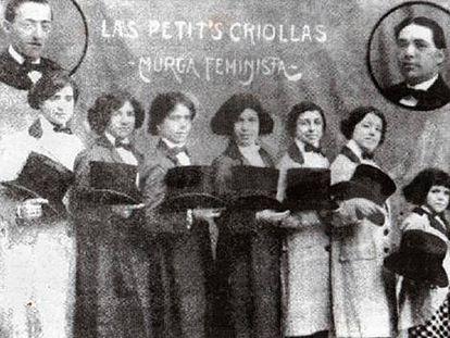 Murga 'Las petit's criollas' (1914), primera constatación documental de una agrupación de mujeres en el Carnaval de Cádiz.