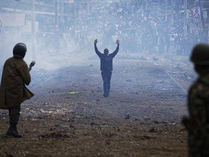 Protestas en Kenia en las últimas elecciones, un caso analizado por el estudio.