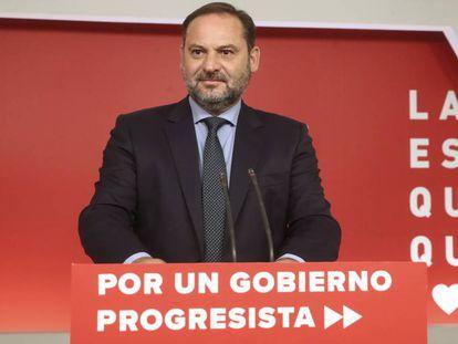 José Luis Ábalos, tras la reunión de la Comisión Ejecutiva Federal del PSOE.